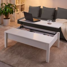 Couchtisch weiss TRULSTORP coffee table white Is Your Air Conditioning Filter Important? Ikea Side Table, Ikea Coffee Table, Coffee Table Design, Small Coffee Table, Coffee Coffee, White Coffee Tables, Coffee Shops, Lift Up Coffee Table, Coffee Beans