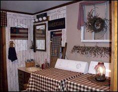 Primitive Kitchen Decor | : primitive americana decorating style - folk art - heartland decor ...