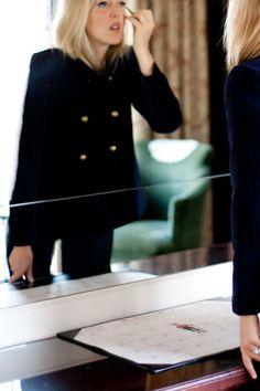 The Velvet - blue velvet 1960's day coat. (Emerson Made)