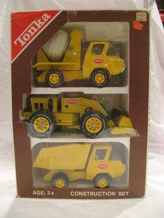 Vintage Tonka Toys Pressed Steel Truck Car Hauler Semi To