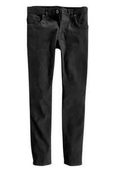 Solid Black Jeans With Stretch from Next