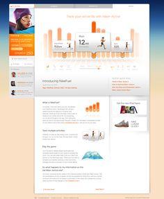 Nike+ Active Activity View by Jordan Fripp, via Behance