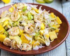 Salade délice de mangue, crevettes et avocat : http://www.fourchette-et-bikini.fr/recettes/recettes-minceur/salade-delice-de-mangue-crevettes-et-avocat.html