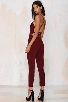 Raquel Cross-Back Jumpsuit