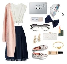Casually Loving by annabrainey on Polyvore featuring polyvore fashion style Chicwish Lands' End Keds BCBGMAXAZRIA Elizabeth Cole Ariel Gordon Music Notes Fulton MAC Cosmetics clothing