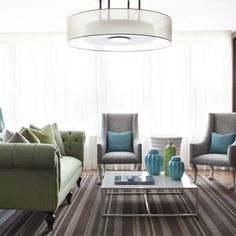 Green Sofa Design Ideas, Pictures, Remodel, and Decor - page 2 Eclectic Living Room, Living Room Green, My Living Room, Home And Living, Living Room Designs, Modern Living, Sofa Design, Design Room, Bleu Pale