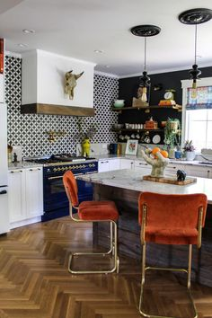 Home Interior Vintage One Room Challenge Eclectic Kitchen, Eclectic Decor, Home Decor Kitchen, Home Kitchens, Eclectic Design, Eclectic Modern, Vintage Kitchen Decor, Vintage Room, Eclectic Style