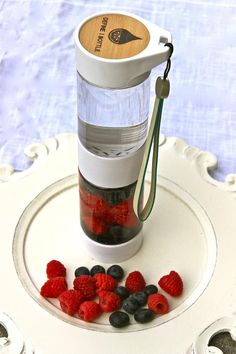 Blueberry Raspberry Infused Water in a Define Bottle Infused Water Recipes, Fruit Infused Water, Fruit Water, Infused Water Bottle, Infused Waters, Water Bottles, Booze Drink, Fruit Drinks, Beverages