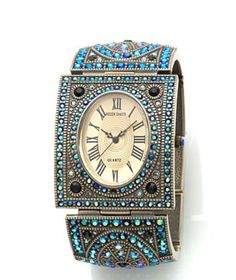 Multi Gem Stone watch bracelet, designed by Heidi Daus