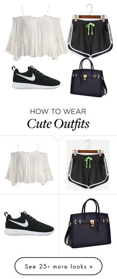 """""""cute lazy outfit !!"""" by lucilas230 on Polyvore featuring Sans Souci, WithChic and NIKE"""