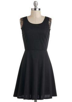 Turn A Gold Shoulder Dress, #ModCloth, #partydress