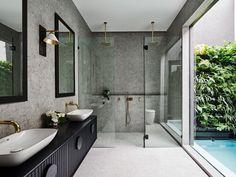 32 Small Bathroom Design Ideas for Every Taste - The Trending House Bathroom Trends, Bathroom Renovations, Bathroom Interior, Modern Bathroom, Small Bathroom, Bathroom Designs, Bathroom Updates, Bathroom Grey, Master Bathroom