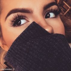 Bold brows and long lashes