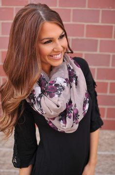 Dottie Couture Boutique - Floral Skull Infinity, $14.00 (http://www.dottiecouture.com/floral-skull-infinity/)