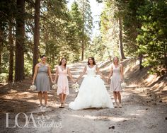 Jessica and her girls on the forest path at Hidden Creek  Photo by Nicole at Love One Another Photography