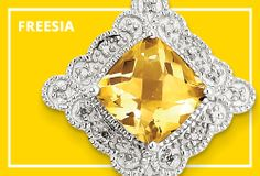 Pantone Spring 2014: Freesia. Match the golden hue with citrine.