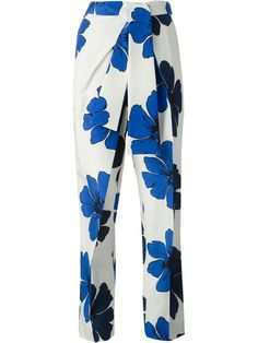 Shop Chloé flower print trousers in Smets from the world's best independent boutiques at farfetch.com. Over 1000 designers from 300 boutiques in one website.