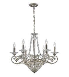 ELK Lighting La Flor 9 Light Chandelier in Sunset Silver 11366/6+3