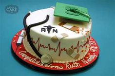 Nursing Grad Cake - Stacy, this one's for you <3
