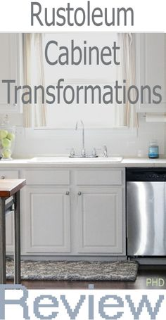 Get a complete and candid review on Rustoleum's Cabinet Transformation Kit at www.providenthomedesign.com.  Painting your kitchen cabinets white!
