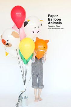 DIY Paper Balloon Animals | These Adorable Balloons Will make You Kids Smile #DIYbirthdayparty #kidsbirthday #balloons