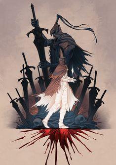 Art of Dark Souls Sif Dark Souls, Dark Souls Artorias, Arte Dark Souls, Soul Saga, Character Art, Character Design, Bloodborne Art, Dark Blood, Modelos 3d
