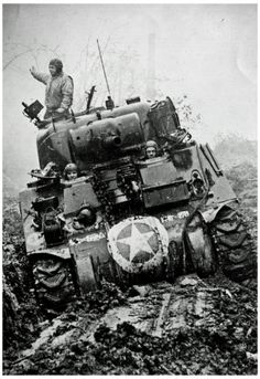 M3 Tank in Mud WWII Archival Photo Poster Print Photographie sur AllPosters.fr