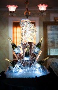 A champagne display