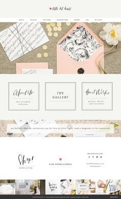 Little Bit Heart is a lovely wedding stationery company designed running on Station Seven's Monstera WordPress theme.