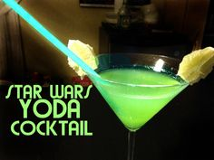 STAR WARS YODA COCKTAIL RECIPE! gin, rum, melon liqueur, pineapple and l...