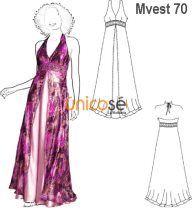 Moldes de vestidos de fiesta de gasa
