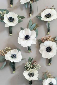 Image result for anemone carnation boutonniere
