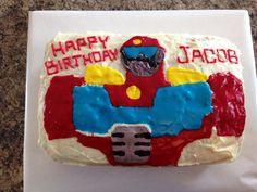 Heatwave Transformers Rescue Bots Cake 2013 Rescue Bots Cake, Rescue Bots Birthday, Heatwave Transformers, Birthday Cakes, Robots, Party, Desserts, Food, Tailgate Desserts
