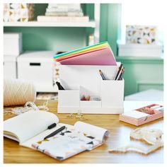 New Desk Organization Ikea Bureaus Ideas Desk Organization Ikea, Bathroom Cabinet Organization, Office Supply Organization, Ikea Desk, Decorating Your Home, Diy Home Decor, Ikea Portugal, Study Space, Desk Accessories