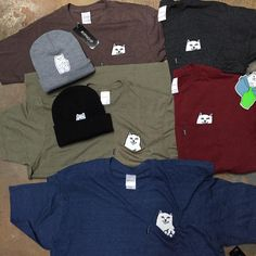 New Lord Nermal shirts and beanies from Rip n Dip! More colors than Benneton! Check out more cool stuff from Rip n Dip on www.surfzonepuertorico.com and then give us a visit! We're open from 9:00am to 4:00pm on Sundays! #ripndip