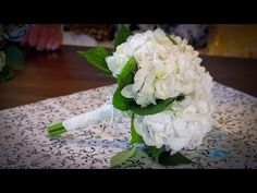 DIY Bridal Bouquet: How to create your own bridal wedding flowers bouquet using foam flowers. - YouTube