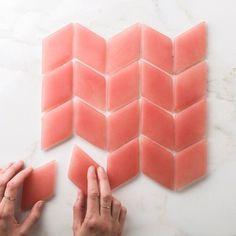 Handmade Recycled Tiles // Fireclay Tile | FLODEAU.COM