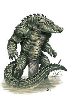 Sobeks, a race of humanoid crocodiles living in the northern Ashinian Isles. consider them dangerous, carnivorous and savage creatures.