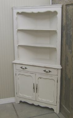 AMISH Unfinished Solid Pine CORNER HUTCH China Cabinet Country