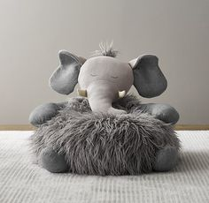Wooly Plush Elephant Chair