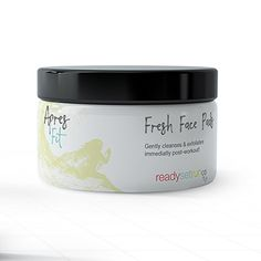 Gently cleanses and exfoliates immediately post-workout. Toss 'em in your gym bag! Aprés Fit – Ready Set Run co. Running Gear, Fresh Face, Skin Cream, Post Workout, Cleanses, Runners, Gym Bag, Skincare, Fitness