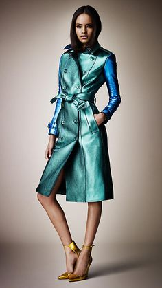 Metallic Leather Trench Coat | Burberry