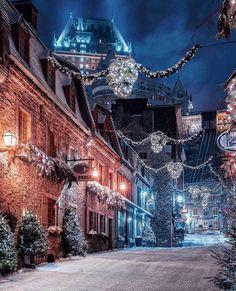 Hello December Quebec, Canada from – Best Shares Winter Szenen, Winter Magic, Quebec Winter, Winter Night, Christmas Scenes, Christmas Photos, Quebec City Christmas, Canada Christmas, Christmas 2019