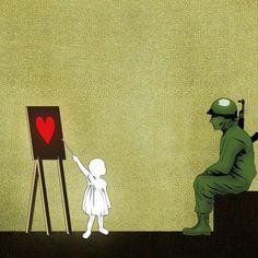 Make love, not war - Banksy