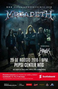 Megadeth Pepsi Center WTC - 29 de agosto Banda... |