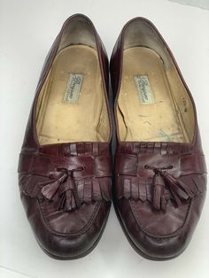 ecc302e4355 Bragano Cole Haan Mens 10.5 M Kiltie Tassel Burgundy Brown Loafer Slip On  Clean  fashion
