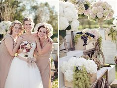 front of hair -wine inspired wedding ideas