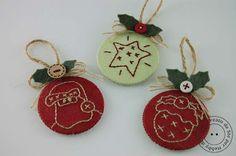 Hobby di stoffa by Hdc: Pronte per le decorazioni per l'albero di Natale? - tutorial