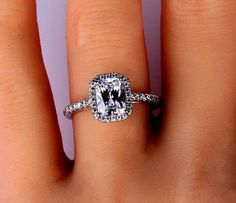 Estate-14k-White-Gold-Emerald-Cut-Diamond-Engagement-Ring-Bridal-Solitaire-Ring