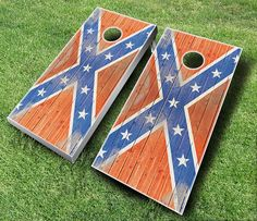 Confederate Flag Theme Cornhole Boards by JRHCornhole on Etsy